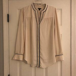 Ann Taylor Button Down Pajama Shirt Blouse
